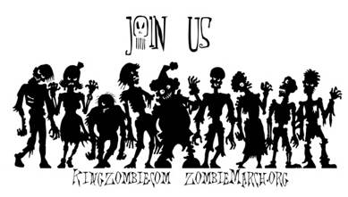 Join Us - ZombieMarch.org Bumper Sticker