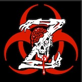 "Biohazard Zombie Z Sticker Set of 2 - 2.75"" x2.75"""